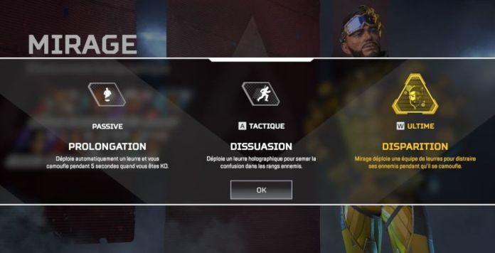 Compétences Mirage - Apex Legends Personnage