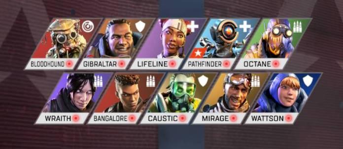 Les personnages Apex Legends