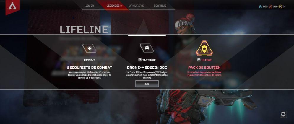 Lifeline capacités - Apex Legends