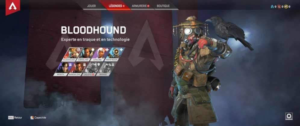 personnage Bloodhound - Apex Legends
