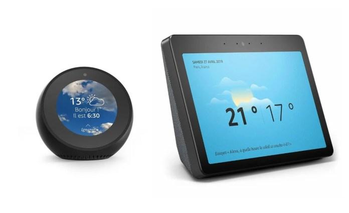 Alexa - tous les modèles Amazon Echo avec écran tactile