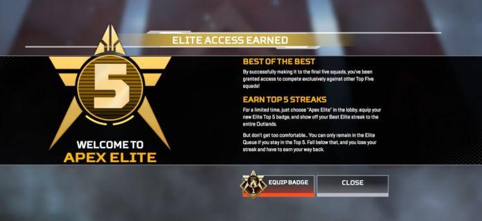 Liste Apex Elite