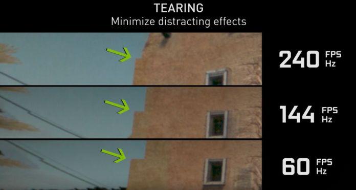 Avantage du 144 Hz - réduction du tearing