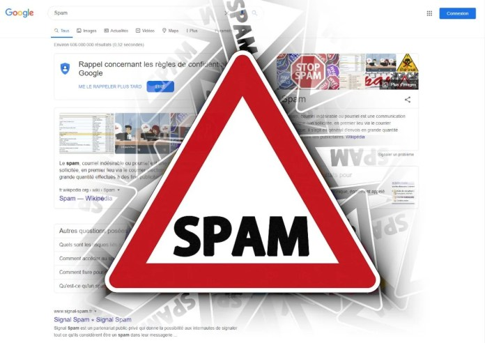 Google filtre 25 milliards de pages de spam par jour