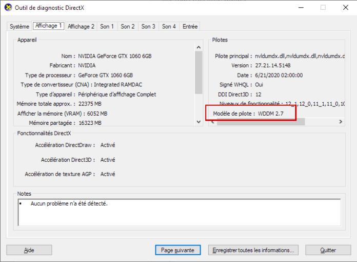 WDDM 2.7 et planification GPU de Windows 10