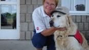 Cosmodoggyland Interview- Brent - Therapy dog- Image credit Barb Kelly -