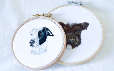 Make your own Pet Portrait with Hand Embroidery