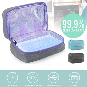 Disinfection Bag Portable USB UV LED Sterilizer Box Sterilizing Light Travel