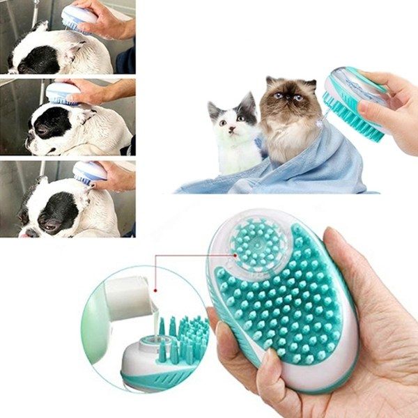 Dog Bath Brush Comb Silicone Pet SPA Shampoo Massage Brush Shower Hair Removal Comb For Dogs Cats Pet Cleaning Grooming Tool