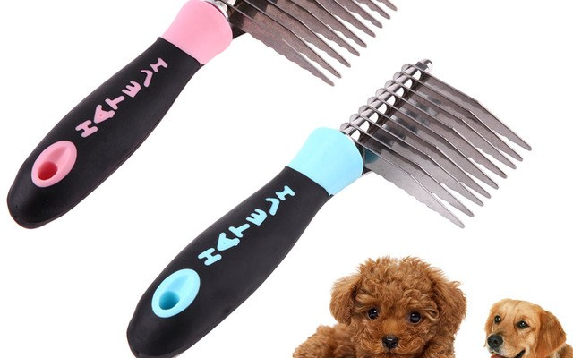 Stainless Steel Pins Brush Puppy Grooming Comb Open Knot Removal Hair Comb Pet Quick Cleaning Tool