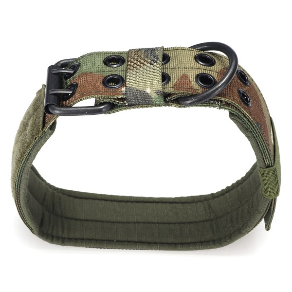 XL Tactical Military Adjustable Dog Training Collar Nylon Leash w/Metal Buckle