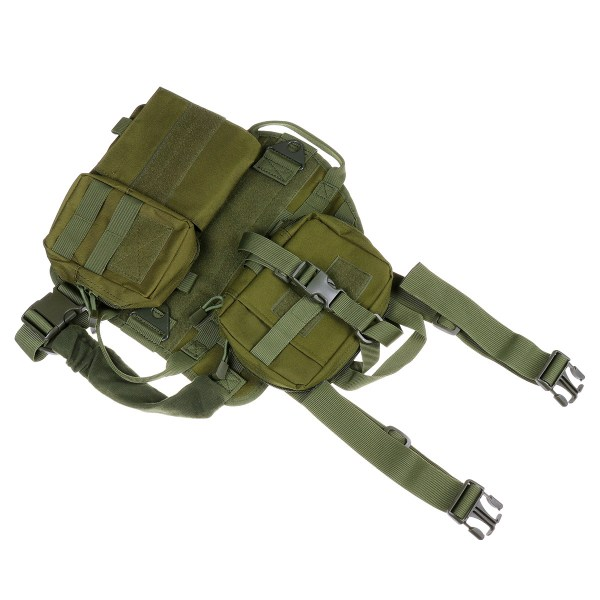 M 1000D Nylon Waterproof Dog Tactical Vest Military Training Clothes