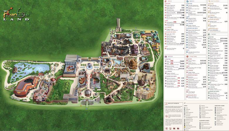 Map of Phantasialand in Brül