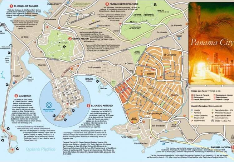 City map of Panama City, Panama