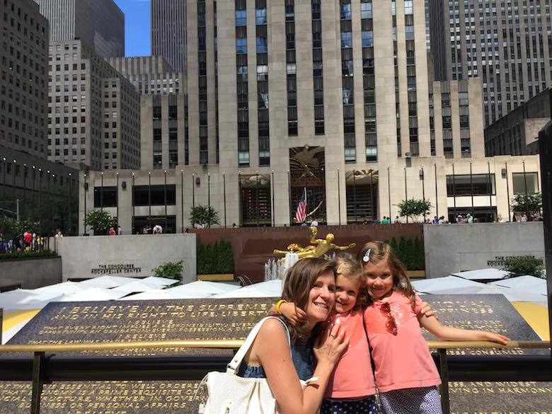 Striking a pose at Rockefeller center