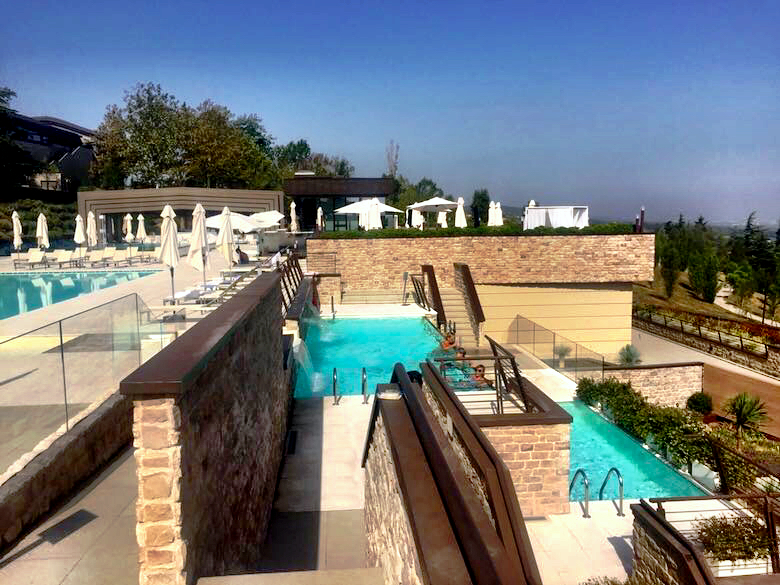 Trio of pools at Palazzo di Varignana Resort & Spa near Bologna