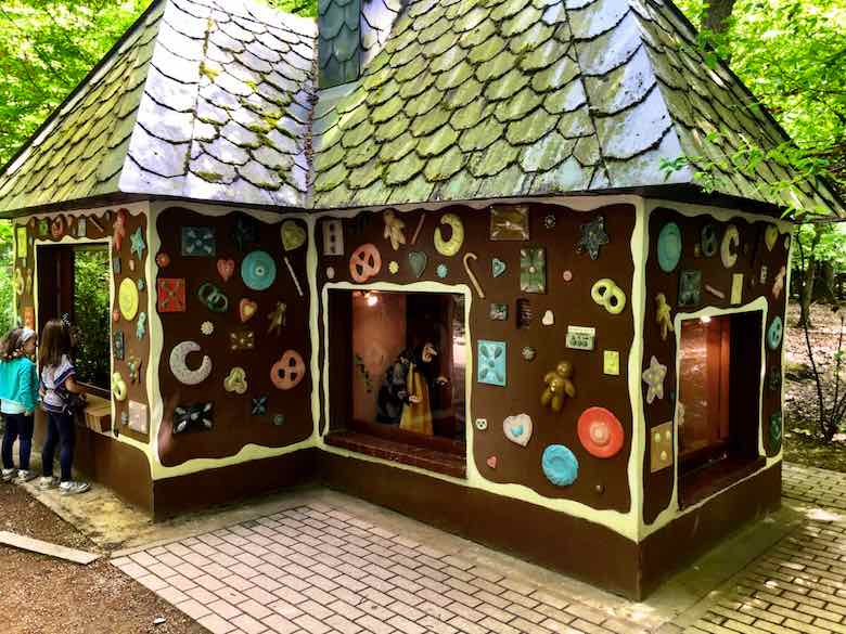 Gingerbread house in the Parc Merveilleux's enchanted forest
