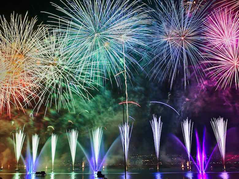 Colourful fireworks to say farewell 2017