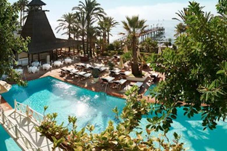 Pool at Marbella Club Hotel, one of 10 exquisite family-friendly luxury hotels in Spain