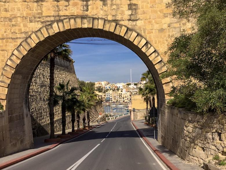 Cottonera Lines in Three Cities Malta