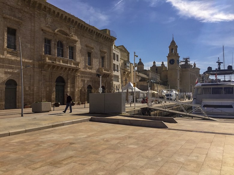 View over Vittoriosa or Birgu from the city's marina
