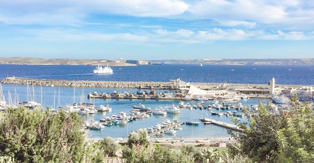 The harbour of Gozo in Malta