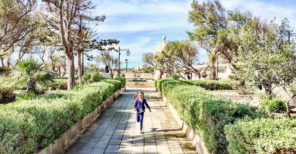 Gardjola Gardens in Isla - Senglea, one of the Three Cities in Malta, one of the highlights of Malta sightseeing