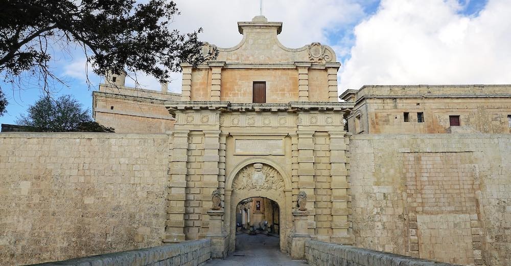 The Mdina wall and entrance gate, one of the main Malta tourist attractions