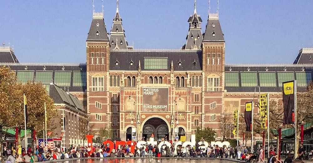 Rijksmuseum in Amsterdam, one of the city's most famous museums located at the Museum District and a highlight on any Amsterdam weekend trip