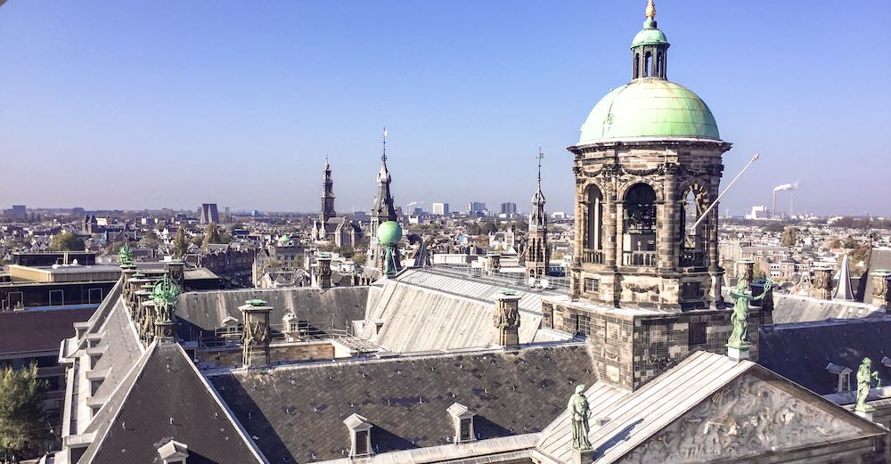 Royal Palace of Amsterdam as seen from above