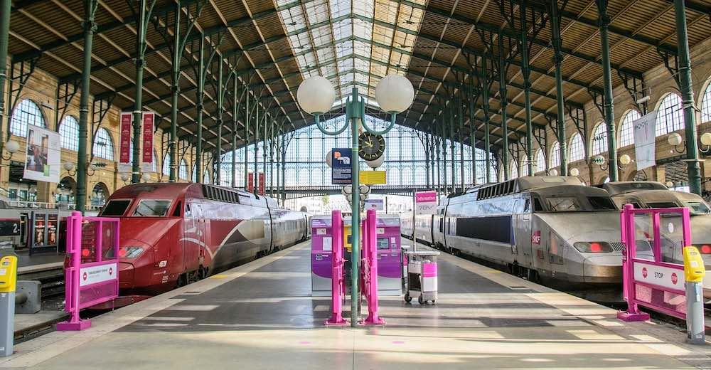 Thalys trein in het station van Parijs