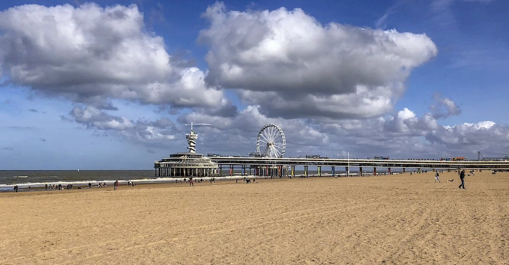 Scheveningen beach, one of the beaches in The Hague and one of the most popular tourist attractions in The Hague Netherlands