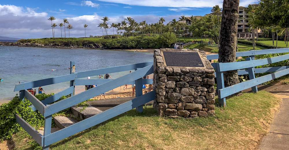 The trail head of the Kapalua Coastal Trail, which counts as one of the best hikes to do in Maui with kids