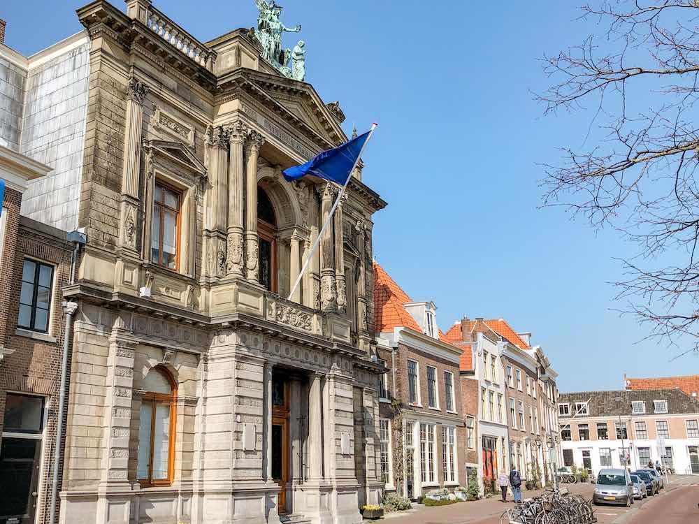 Exterior view of the Teylers museum in Haarlem