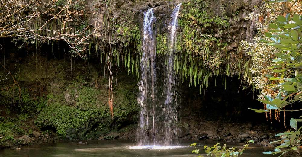 Caveman Falls, a short hike from Twin Falls, a popular stop along Maui's popular Road to Hana