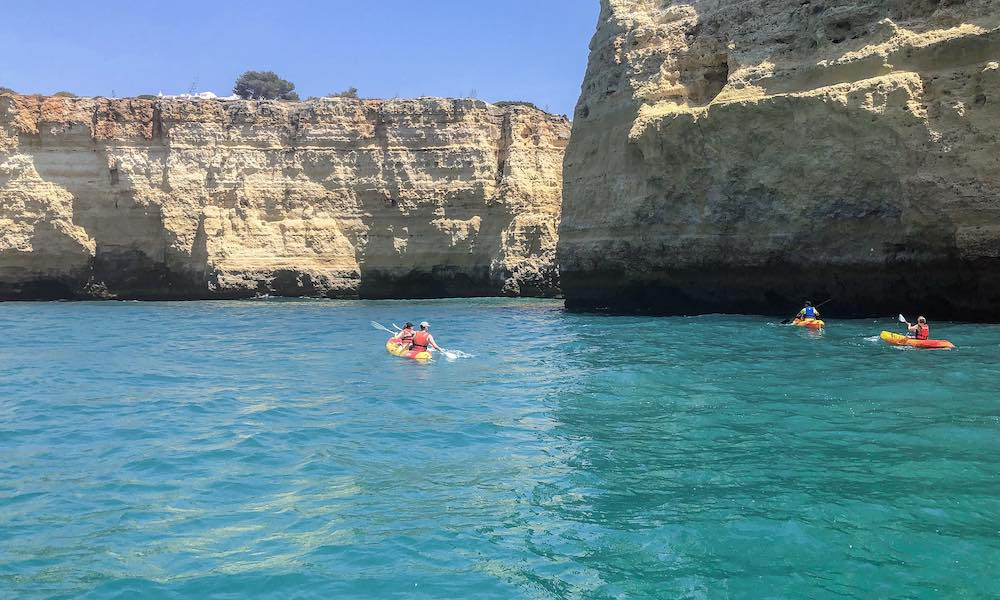 Kayaking along the Algarve coast and exploring more Algarve caves