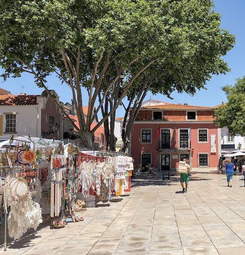 Tourist market in Cascais Portugal