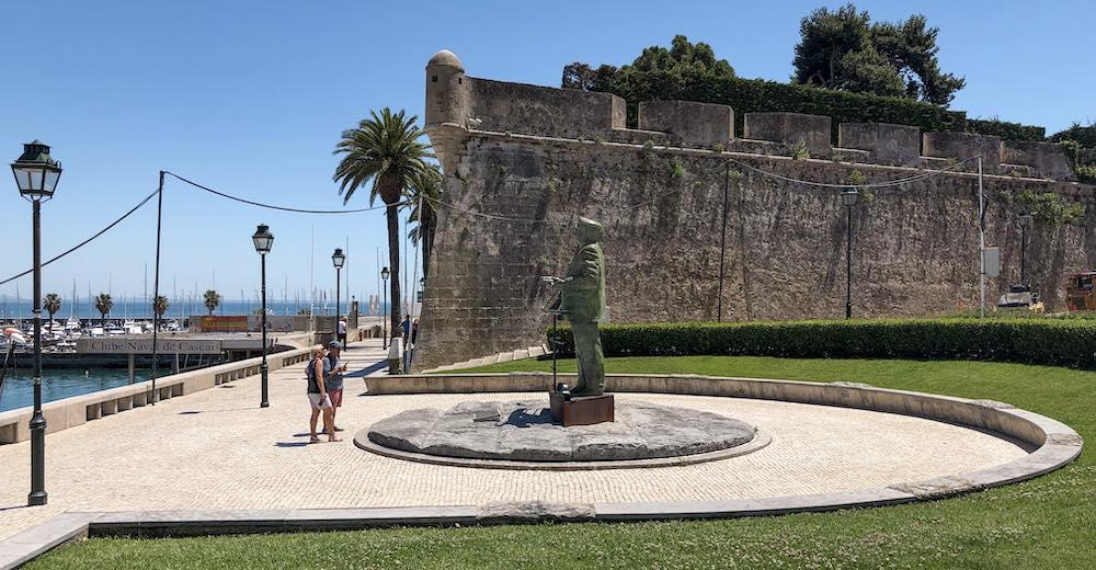 The Nossa Senhora da Luz Fort at the harbour in Cascais Portugal