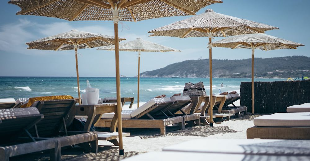 Byblos beach club at Pampelonne beach is the most famous St Tropez France beach