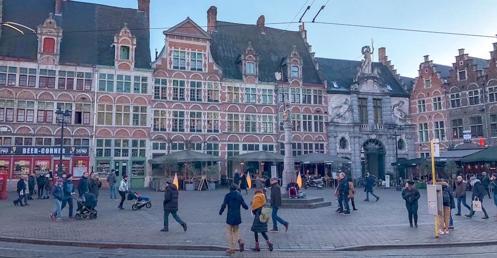 Veerle square in Ghent Belgium