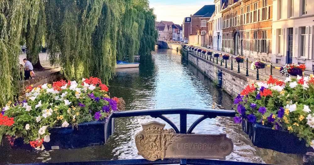Lieve bridge in Ghent Belgium