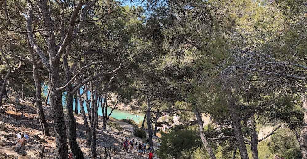 Aquamarine waters of the Calanques de Cassis