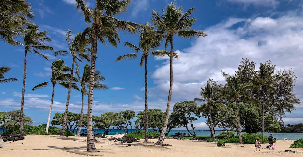 Kika'au Point beach is one of the best beaches on the Big Island for families