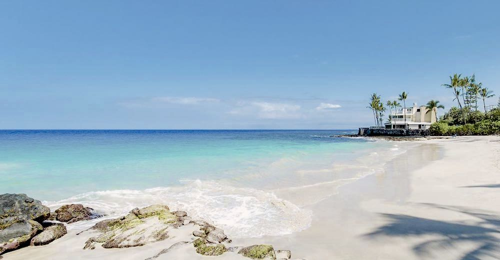 Magic Sands beach is one of the only sandy Kona beaches near downtown Kailua-Kona