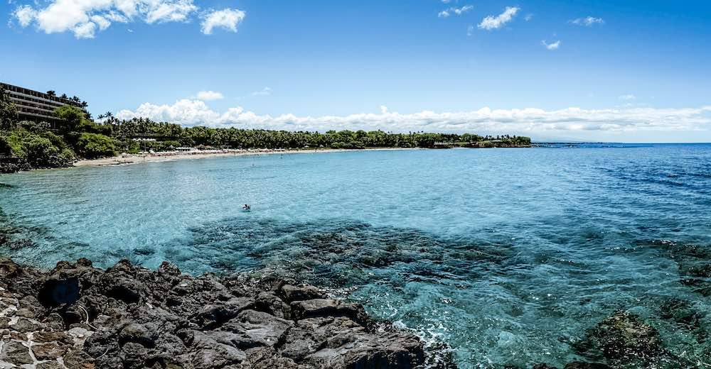 Mauna Kea beach is an excellent Big Island beach for families