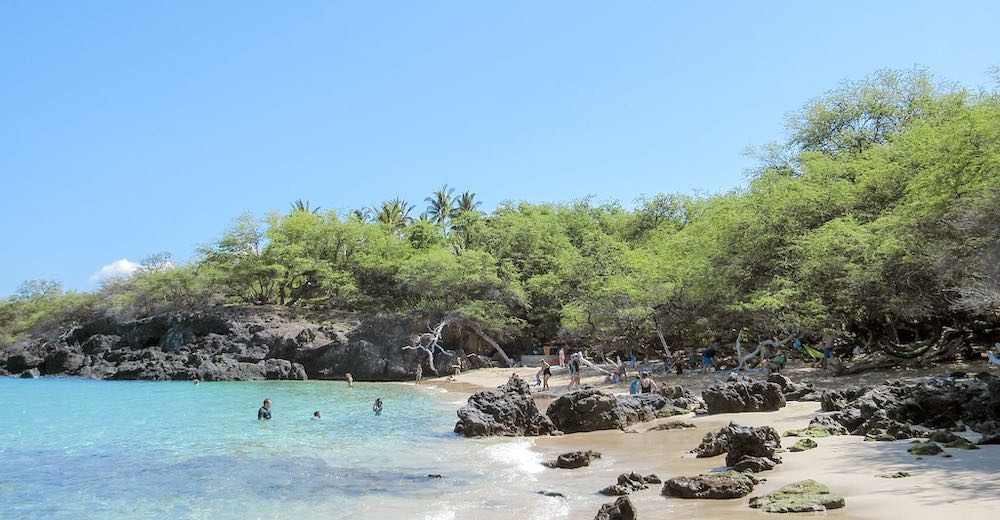Waialea beach is one of the wilder Big Island beaches