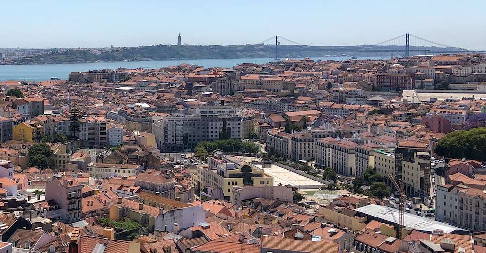 Rooftop view over the Alfama and Graca districts in Lisbon, one of the best cities to visit in Portugal