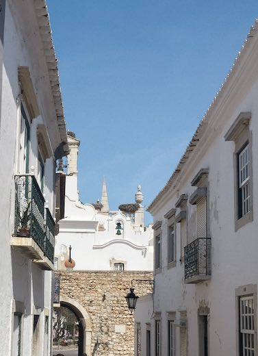The inner side of the gate to the old town of Faro in Portugal