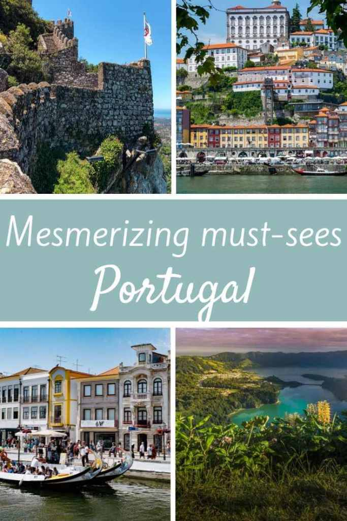 From the most iconic landmarks in cities in Portugal to the most impressive natural highlights, here's the ultimate list of must see places in Portugal. #travel #europe #portugal #sintra #lisbon #belem #porto #douro #algarve