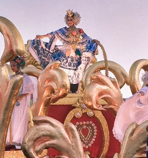 Panama carnival queen on a float